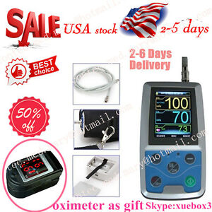 Ambulatory Blood Pressure Patient Monitor 24h Nibp Holter Abpm50 Contec Usa Fda