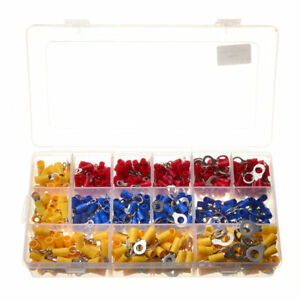 650pcs Yellow Blue Red Ring Insulated Crimp Connector Wiring Terminals 22 10awg