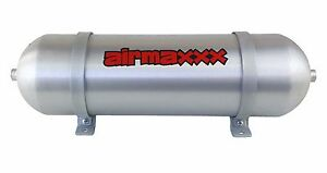 24 Seamless Aluminum Air Tank Brushed Spun 3 Gallon 6 Port Air Ride Suspension