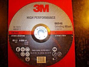3m Depressed Center Grinding Wheel 9 X 1 4 X 7 8 Qty 10 Ea 66548