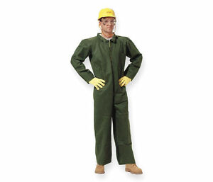 Dupont Nomex Flame Resistant Coveralls Lg Qty 10 Nl149sgrlg001000