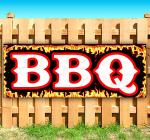 Bbq Advertising Vinyl Banner Flag Sign Many Sizes Fair Carnival Food