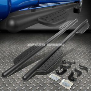 For 05 20 Toyota Tacoma Crew Cab 3 Matte Black Side Step Bar Nerf Running Board