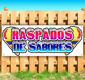 Raspados De Saboros Spanish Advertising Vinyl Banner Flag Sign Carnival Food