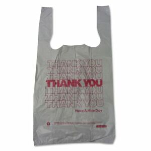 Barnes Paper Company thank You T shirt Plastic Grocery Bags Bpc10519thyou
