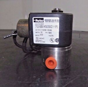 Parker 2 Way Solenoid Valve Normally Closed 71215sn1kn00n0c111p3