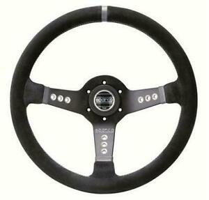 Sparco Steering Wheel Tuner Piuma L777 015l800sc 350mm Suede Black Fits uni