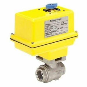 Sharpe Valves Electric Ball Valve 1 4 100 Psi Max 1 4 124mseaiirx