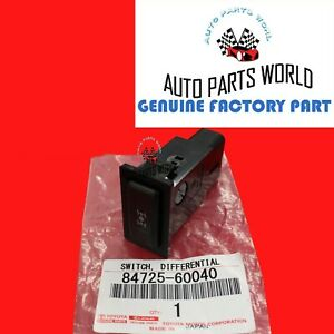 New Genuine Oem Toyota Rav4 Lexus Lx450 Differential 4wd Lock Switch 84725 60040