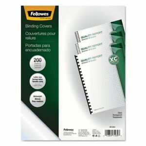 Fellowes Crystals Clear Presentation Binding Covers Fel5204303