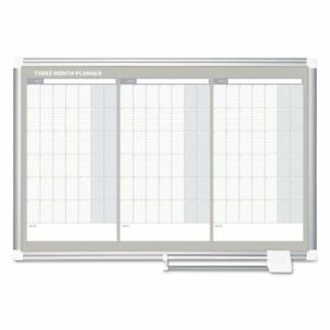 Mastervision Magnetic Dry Erase Calendar Board 36 X 24 Silver Bvcga03204830