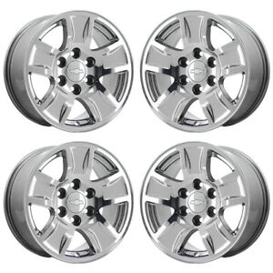 17 Chevrolet Silverado 1500 Pvd Chrome Wheels Rims Factory Oem Set 4 5657