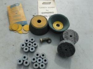 22pc Norton Mixed Grinder Wheels And Washers 3 2 14 X 1 14 X 12 Cylinders