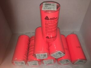 Monarch 1110 Pricing Gun Label Fluorescent Red 8 Sleeves Of 16 Rolls