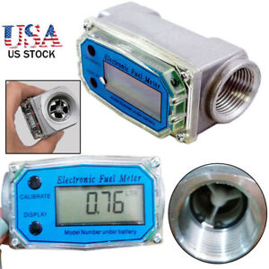 Bspt npt 1 200l min Turbine Digital Diesel Fuel Flow Meter Oval Gear Flow Gauge