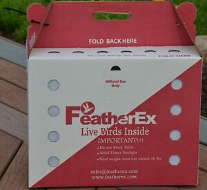 10 Pack Featherex Live Bird Shipping Boxes For Chicken Duck Poultry Pheasant