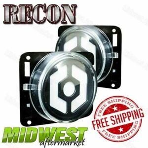 Recon Smoked Oled Side Markers W White Led Lights Fits 2007 17 Jeep Jk Wrangler