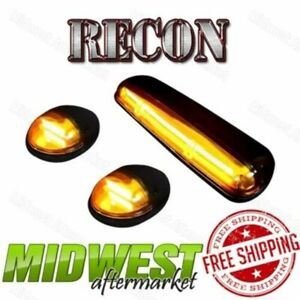 Recon Amber Oled Cab Roof Lights W Amber Leds Fits 02 07 Sierra Silverado 1500