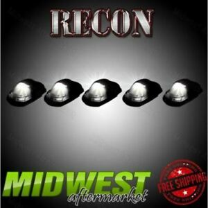 Recon 5pc Smoked Led Cab Light Lenses Fits 2017 2018 Ford F 250 F 350 Super Duty