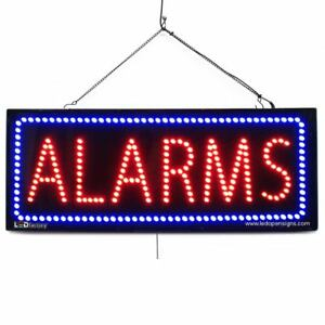 High Quality Large Led Open Signs Alarm 13 x32 Led Factory 2568