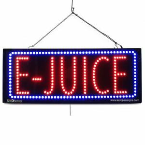 High Quality Large Led Open Signs E Juice 13 x32 Led Factory 2582