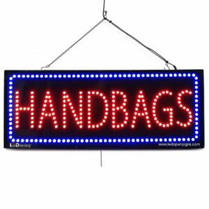 High Quality Large Led Open Signs Handbags 13 x32 Led Factory 2595