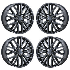 20 Jeep Grand Cherokee Summit Black Chrome Wheels Rim Factory Oem Set 9170