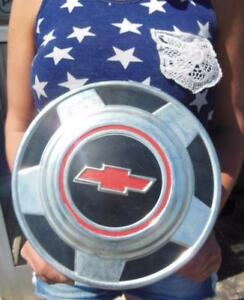 1970s Chevrolet 12 Ton Hubcaps Dog Dish Truck Car Center Hub Caps Wheel Cover
