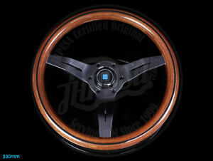 Nardi Sport Rally Deep Corn Wood Steering Wheel Black Spoke Toyota Mazda Porsche