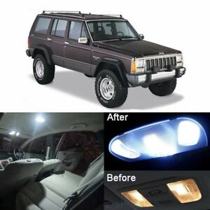 Led White Interior Package License Plate Light Kit For Jeep Cherokee 1997 2001