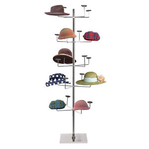 Heavy Weight Hat Stand Retail Store Floor Display Rack 5 Levels 20 Caps New
