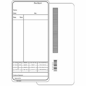 1000 Ct Time Cards For Simplex Consecutive Model 1405 Form 1950 9248 Tn