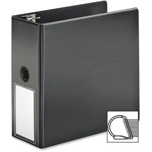 Cardinal D Ring Binder W label Holder 5 Cap 11 x8 1 2 Black 11922