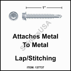 3000 14 X 1 Self Drilling Tek 3 Hex Washer Head Zinc Siding Screw 137737
