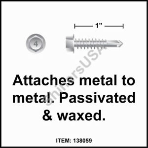 3000 12 14x1 Hex Washer Head 410 Stainless Self Drilling Tek Screw 138059