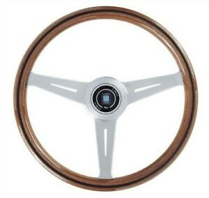 Nardi Classic Mahogany Wood Steering Wheel 360mm W Satin Spokes 5051 36 6300