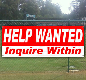 Help Wanted Advertising Vinyl Banner Flag Sign Large Sizes Business Signs Usa