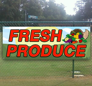 Fresh Produce Advertising Vinyl Banner Sign Large Sizes Business Signs Usa