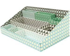 Eye Catching Durable Paper 8 Compartments Desk Organizer Tray Office School