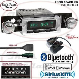 Retrosound Long Beach Cb Radio Bluetooth Ipod Usb 3 5mm Aux In 114 03 Chevy