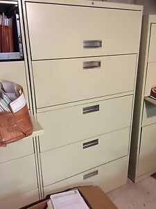 2 Hon Lateral 36 5 Drawer Legal Sized Filing Cabinets