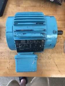 1 Hp 3 Ph Electric Motor 1735rpm Premium Efficient Severe Duty