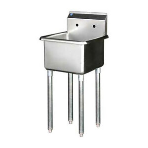 1 Compartment Bay 24 x 24 Stainless Steel Prep Sink Nsf Approved Bsp 24 14