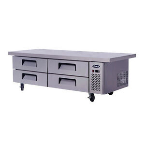 Atosa Commercial 76 4 Drawer Chef Base Refrigerator Cooler Mgf8454