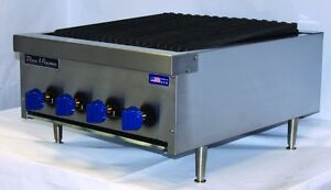 New Blue Flame Natural Gas Countertop Radiant Char Broilers Bfrb 12 18 24 36