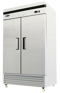 Atosa Mbf8503 Two 2 Door Stainless Steel Commercial Freezer Upright Bottom Mount