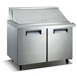 U star Salad sandwich Refrig Prep Table 60 W 15 0 Cu Ft Adcraft Ussl 2d 60