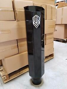 Offroad Arsenal 5 In 8 Out 36 Octagon Diesel Exhaust Stack Gloss Black Miter
