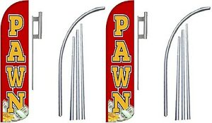 Pawn Windless Swooper Flag With Complete Kit Pack Of 2