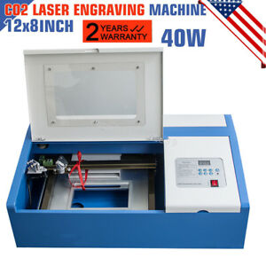 High Precise 40w Co2 Laser Engraving Cutting Machine Engraver Cutter Usb Port Us